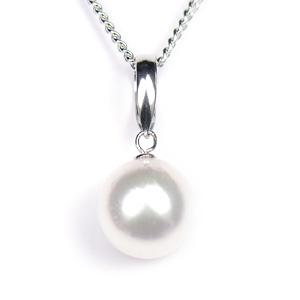 真珠 パール ネックレス あこや 送料無料 あこやパール 8.0~8.5mm K14WG ホワイトゴールド ネックレスペンダント