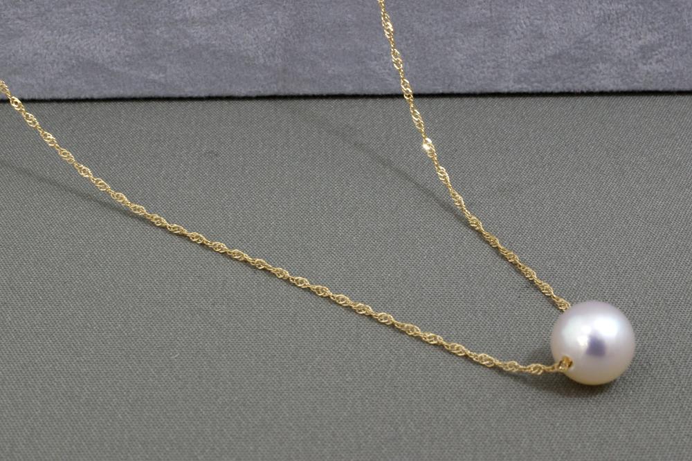 真珠 パール ネックレス あこや 送料無料 あこやパール7.5-8mmK18プチネックレスペンダント