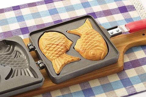 たい焼き器 ガス火専用  鯛焼き たいやき フッ素 D419 おやつdeっse ふっ素加工たい焼器