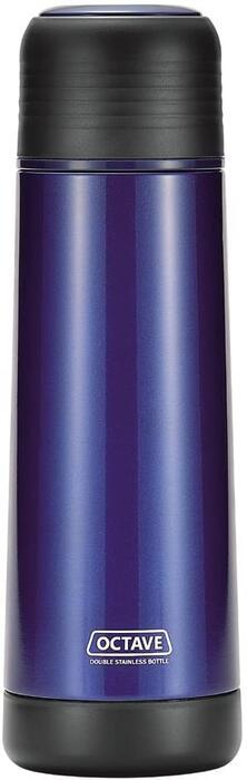 水筒 数量は多 コップ付 メンズ 男子 男性 ボトル ステンレス 数量は多 ブルー 広口 オクターブ ダブル パール金属 スリム 500ml HB-1741