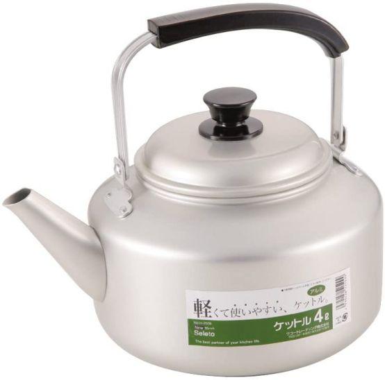 麦茶 夏 商品追加値下げ在庫復活 暑い 水分補給 定番 人気 大容量 たっぷり ケトル パール金属 H-2509 4L アルミ 25099 驚きの値段で ガス火専用 ニューセレット ワコートレーディング