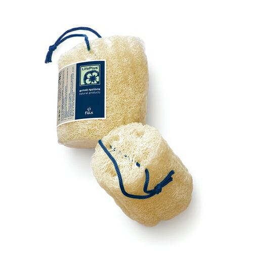 シンプルなヘチマスポンジ LifoPlus ロウナチュラルルーファー ライフォプラス ヘチマ コットン 植物由来 定番キャンバス スポンジ 直送商品 ボディ用 血行促進 ボディケア タオル素材 角質 皮脂汚れ ギリシャ製