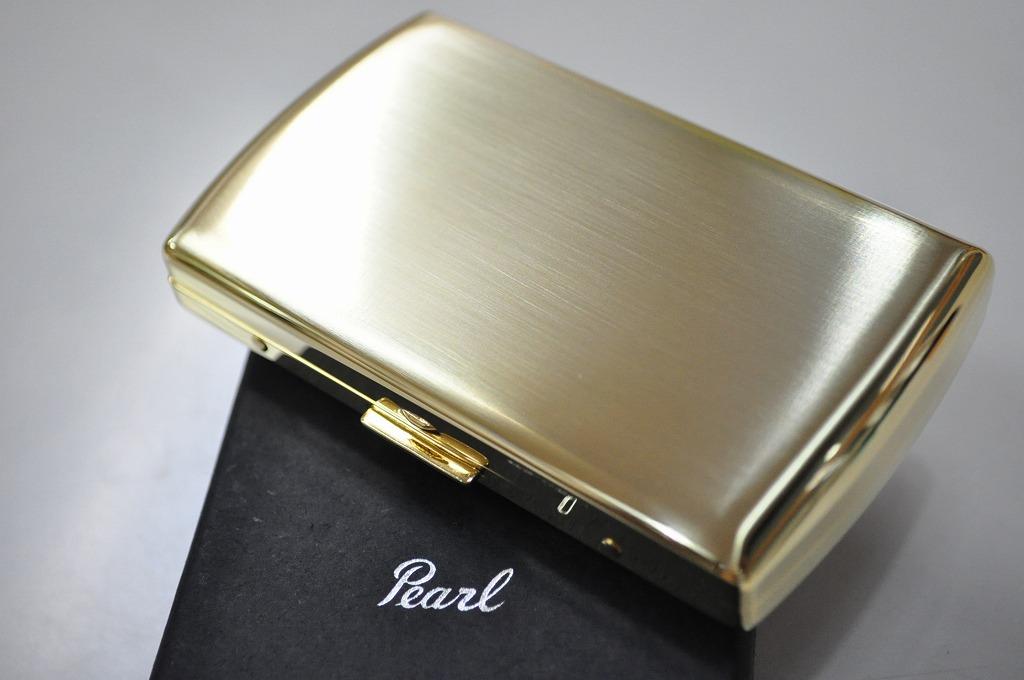 【PEARL】シガレットケース ゴールドサテン VENUS 12本 ブランド たばこケース 人気 キングタバコケース 丈夫 日本製 ヴィーナス 85mm メンズ レディース 小型 金色