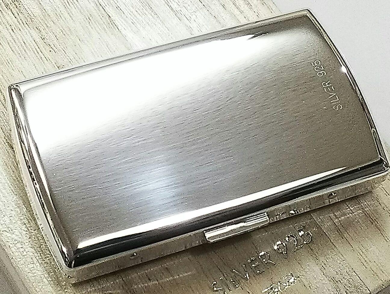 【PEARL】高級 純銀 シガレットケース 12本 国産ブランド 高級 タバコケース 銀 シルバー925 シンプルで人気 送料無料 85mm
