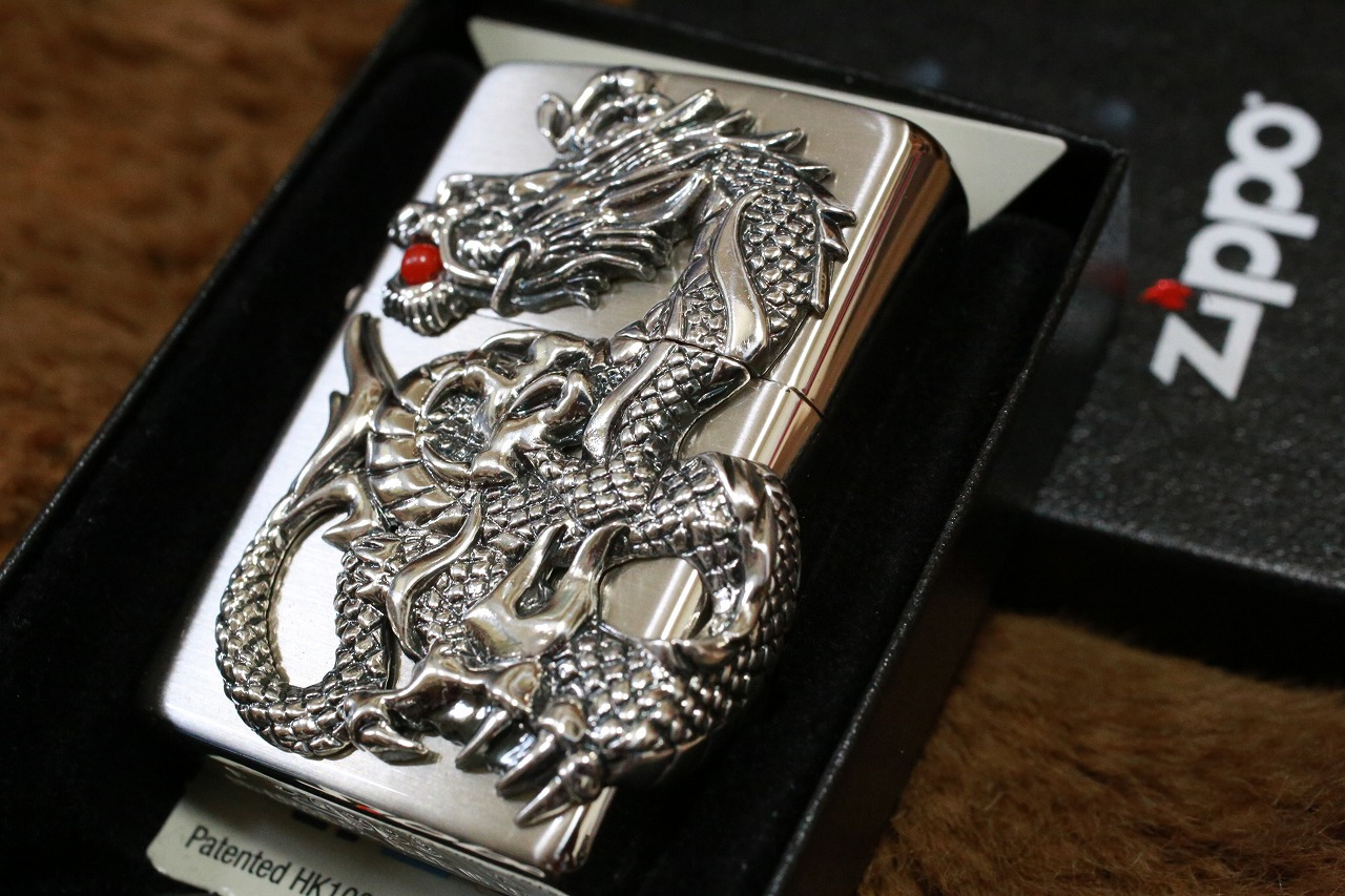 【ドラゴンZIPPO】 ジッポ ドラゴンメタル シルバー 龍 竜 銀 人気 プレゼント おしゃれ 送料無料 開運ジッポ レア 重厚ジッポ