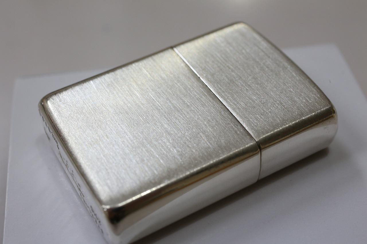 【正規品・純銀ZIPPO】純銀 アーマーZIPPO #27 サテン仕上げ ジッポ 人気 純銀アーマージッポ スターリングシルバー925