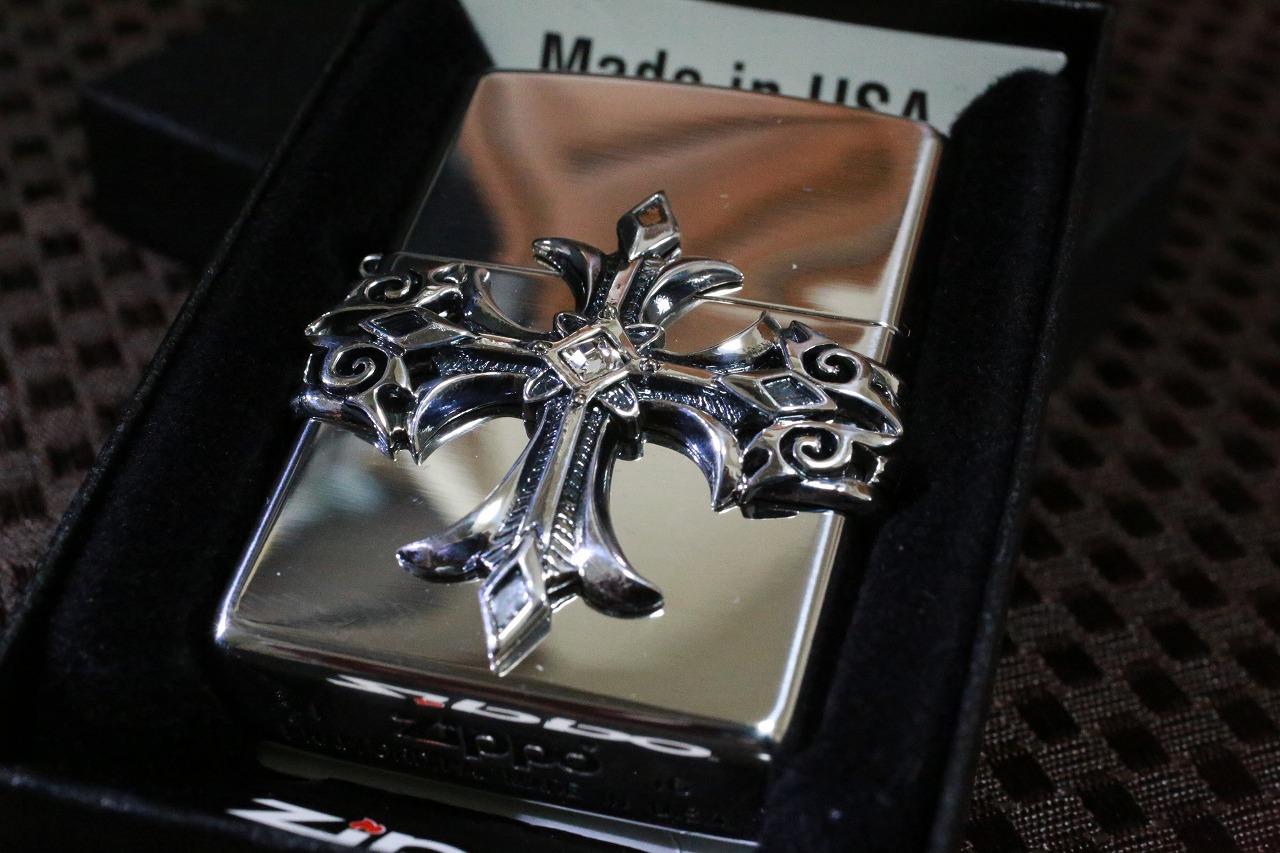 【十字架ZIPPO】 ハイエンドクロス シルバー◆銀いぶし加工◆銀 おしゃれ プレゼント 人気 重いジッポ 送料無料
