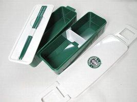 スターバックス ランチBOX ロゴ 白×緑