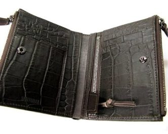 Head Porter Croc Zip wallet black