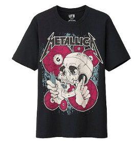 UT 유니크로 메탈 리카 T 셔츠 L