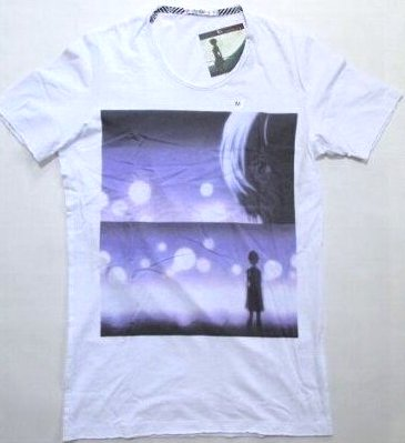 UT UNIQLO Evangelion t-shirt Aya wave white XS