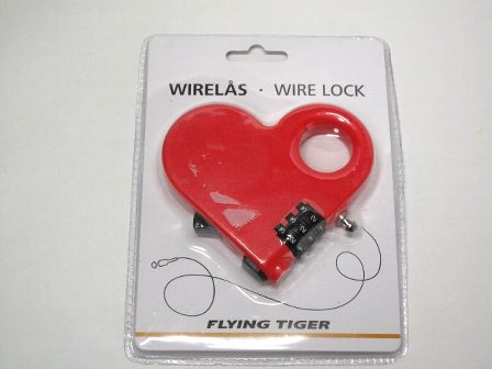 FLYING TIGER heart-shaped wire lock