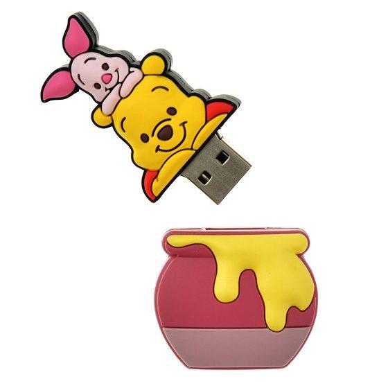 ディズニーストア限定 USBメモリ 8G プーさん ピグレット シリコンD2IbHYeWE9