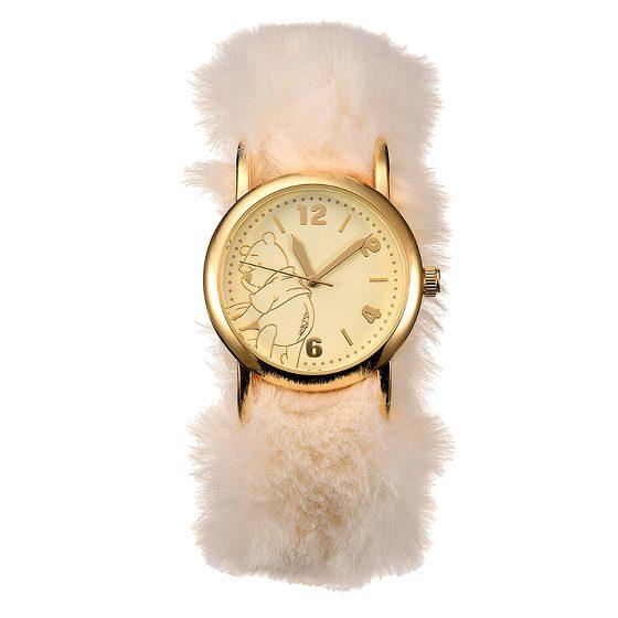 ディズニーストア限定 腕時計 プーさん フェイクファー