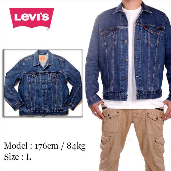 リーバイス Gジャン ジージャン メンズ LEVIS トラッカー ジャケット 大きいサイズ ビンテージ インディゴ ウォッシュ JKT B系 ストリート系 ヒップホップ ダンス 衣装 ブランド ファッション AMAZING アメージング 服