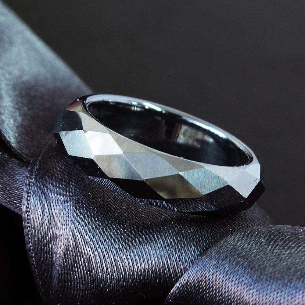 有名な 高純度99.99% テラヘルツ ミラーカット 鉱石 くり抜き パワーストーン リング 天然石 男女兼用 指輪 定番