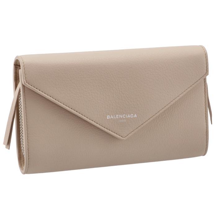 バレンシアガ BALENCIAGA ペーパー PAPER 財布 レディース 二つ折り長財布 ベージュ系 371661 DLQ0N 2730