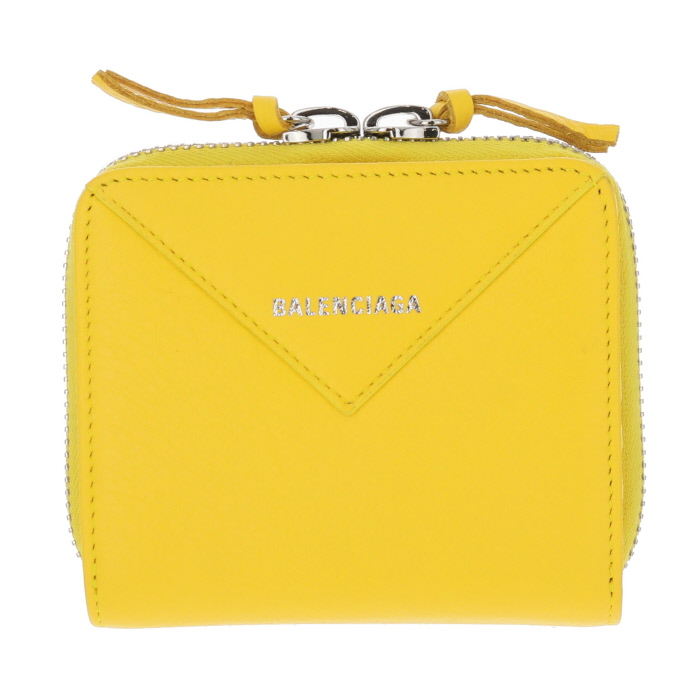 バレンシアガ BALENCIAGA  財布 二つ折り ペーパーミニウォレット PAPER イエロー 371662 DLQ0N 7155