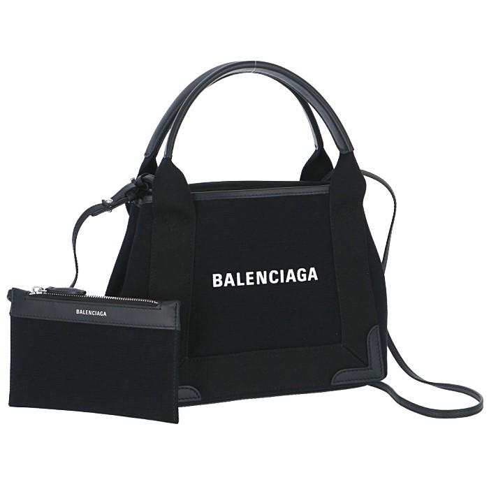 バレンシアガ BALENCIAGA 2019年秋冬新作 ネイビー カバ XS キャンバストートバッグ navy cabas XS ブラック 390346 AQ38N 1000