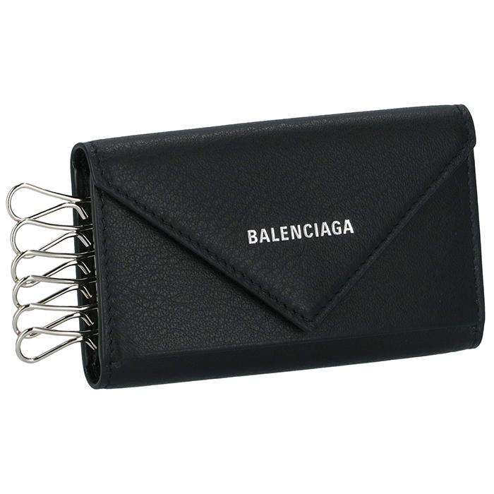 バレンシアガ BALENCIAGA ペーパー PAPIER KEY CASE ユニセックス 6連キーケース ブラック 499204 DLQ0N 1000