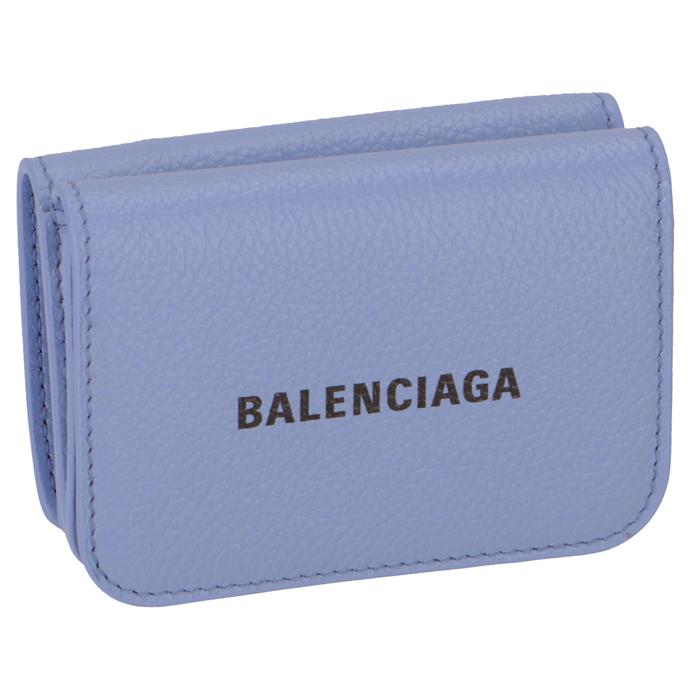 バレンシアガ BALENCIAGA 財布 三つ折り ミニ財布 ロゴ ミニウォレット ライトパープル 593813 1IZ43 5360