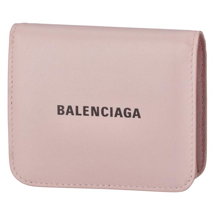 バレンシアガ BALENCIAGA 財布 二つ折り ロゴ フラップウォレット ピンク系 594216 1I313 5960