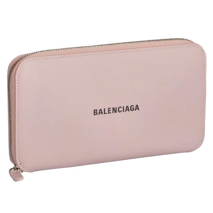 バレンシアガ BALENCIAGA 財布 長財布 ラウンドジップ ピンク系 594290 1I313 5960【06-SS】