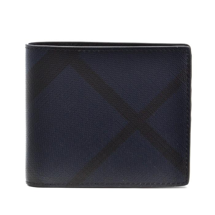 バーバリー BURBERRY 財布 メンズ LONDON CHECK COLLECTION 二つ折り財布 ブルー系 チェック柄 3998944