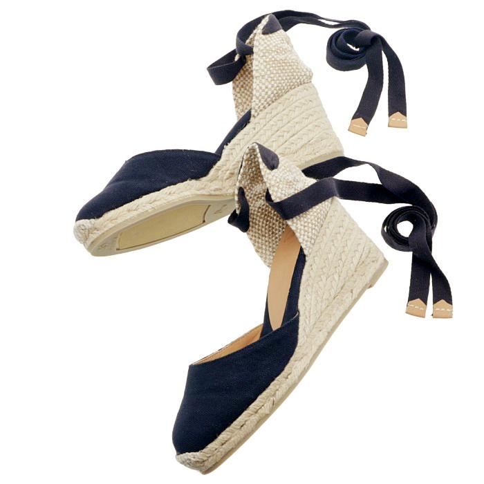カスタニエール CASTANER 2019年春夏新作 CARINA ウェッジソール シューズ サンダル 靴 ネイビー系 CARINAH6 001 AZUMAR
