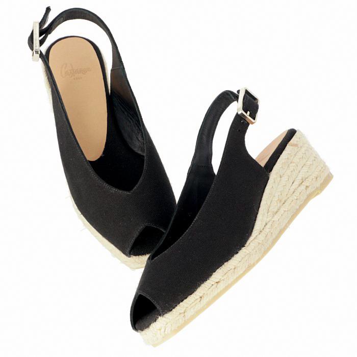 カスタニエール CASTANER 2019年春夏新作 DOSALIA ウェッジソール シューズ サンダル 靴 ブラック DOSALIAH3 001 NEGRO
