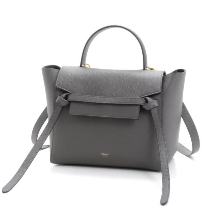 セリーヌ CELINE マイクロ ベルトバッグ MICRO BELT BAG 2WAYハンドバッグ グレー系 18015 3ZVA 10DC