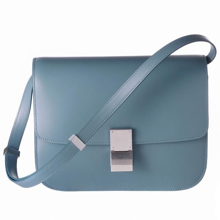 セリーヌ CELINE 2019年春夏新作 バッグ ショルダーバッグ CLASSIC BOX クラシックボックス ミディアム ブルー系 18917 3DLS 07SU