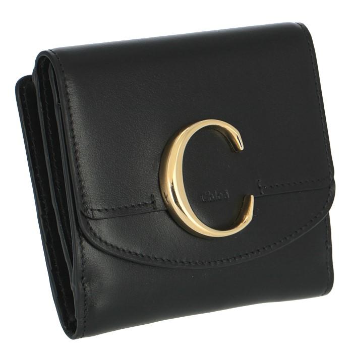 クロエ CHLOE 2019年春夏新作 財布 クロエC ミニ財布 二つ折り 二つ折り財布 ブラック 9SP056 A37 001