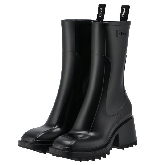 クロエ 価格 新作送料無料 レインブーツ Betty シューズ 靴 ブラック BLACK プレゼント ギフト 大人気 10~9 CHLOE ポイント5倍 11 001 G8 CHC19W239 1:59 9