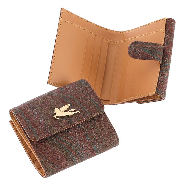 【春夏セール】エトロ ETRO 財布 ミニ財布 二つ折り財布 ペイズリー柄 02468 1906 0600