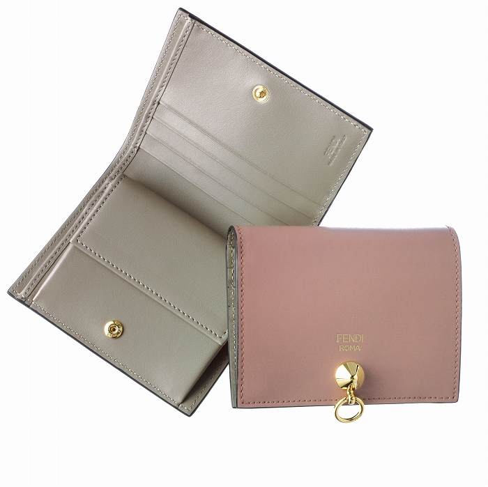 d4e6516aa103 フェンディ 二つ折り財布 ミニ財布 小銭入れ付き BY THE WAY SMALL ローズピンク×