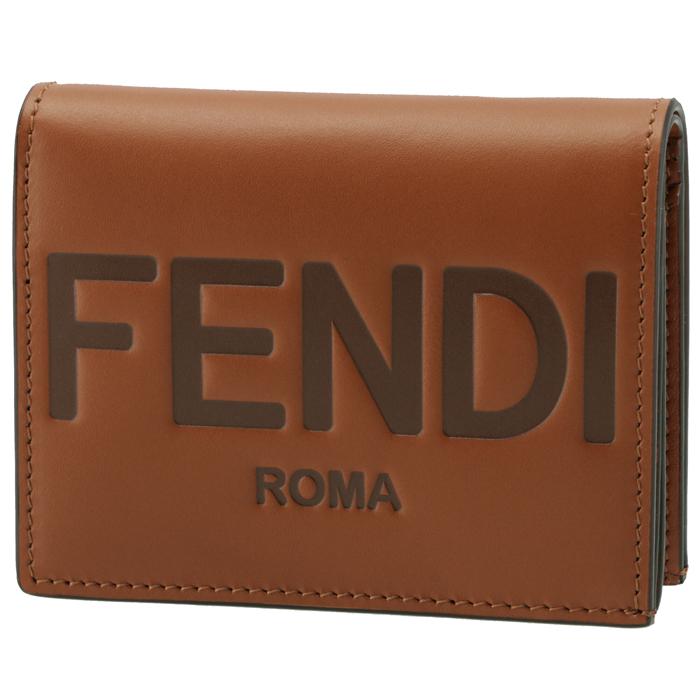 フェンディ FENDI 財布 二つ折り ミニ財布 FENDI ROMA ブラウン系 8M0420 AAYZ F0QVK