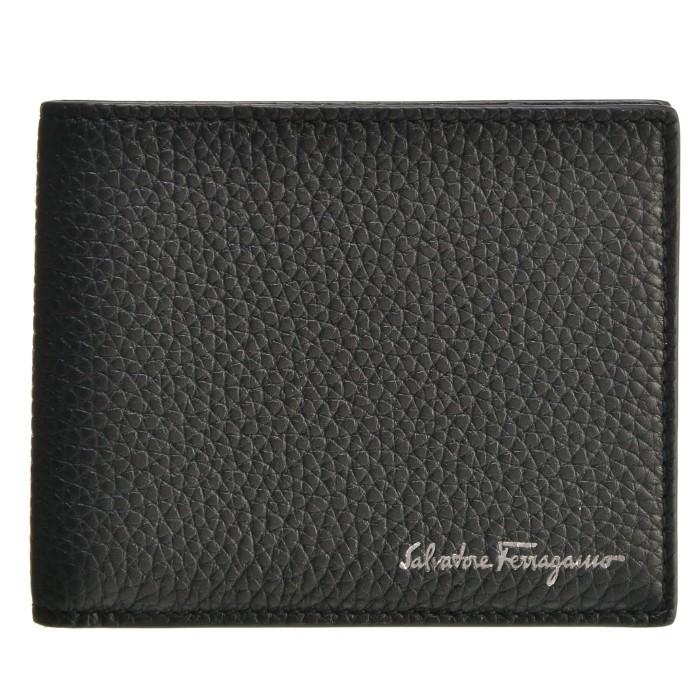 【春夏セール】フェラガモ FERRAGAMO 財布 メンズ FIRENZE メンズ 二つ折り財布 ブラック 660897 0001 0010
