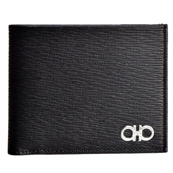フェラガモ FERRAGAMO メンズ ガンチーニ 財布 REVIVAL GANC メンズ 二つ折り財布 ブラック×レッド バイカラー 66A065 0007 0397