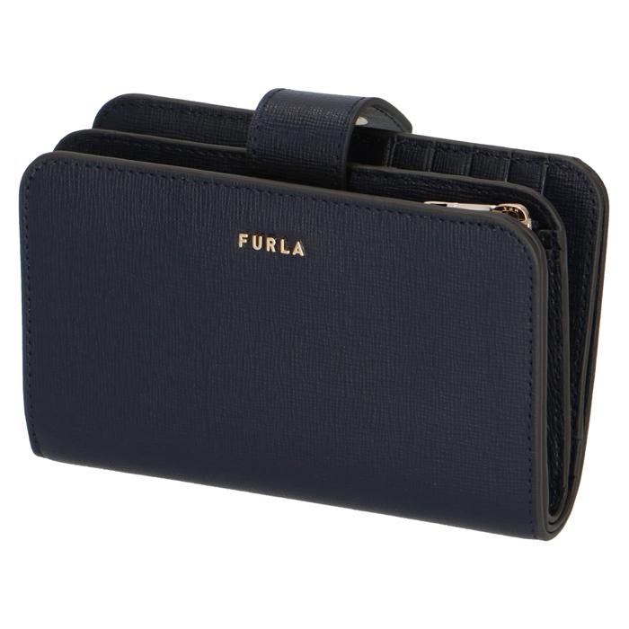 フルラ FURLA 2020年春夏新作 財布 二つ折り財布 BABYLON バビロン 1057134 ネイビー系 PCX9 B30 07A