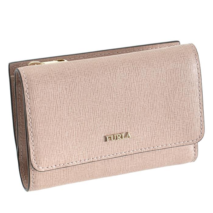 フルラ FURLA babylon ミニ財布 バビロン 小銭入れ カード入れ付き 三つ折り財布 ベージュ系 PR76 B30 6M0