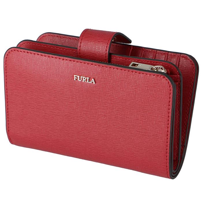 フルラ FURLA 財布 ミニ財布 BABYLON 財布 バビロン 二つ折り財布 レッド系 PR85 B30 RUB