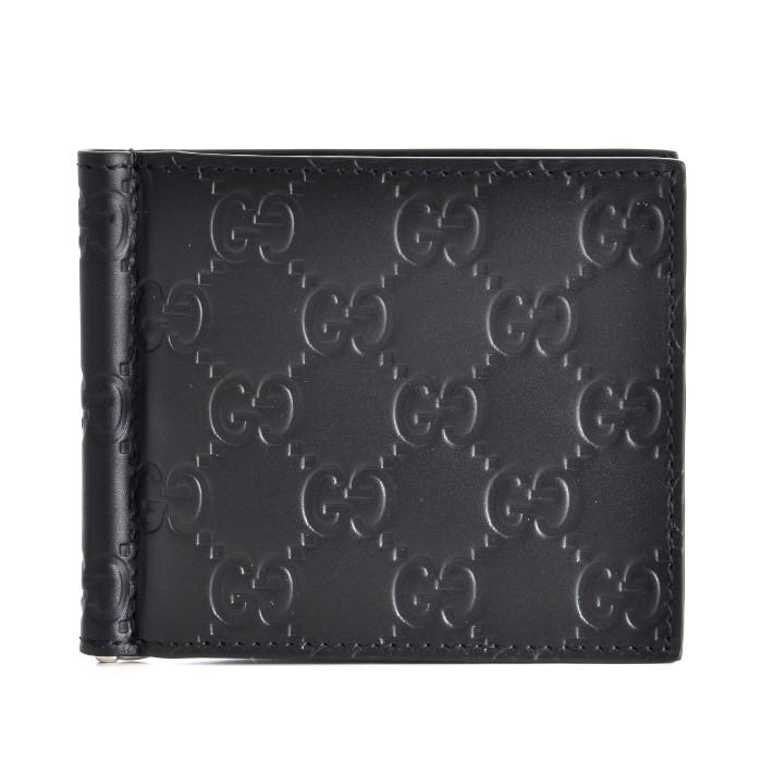 グッチ GUCCI マネークリップ メンズ 二つ折り財布 ブラック 170580 CWC1N 1000
