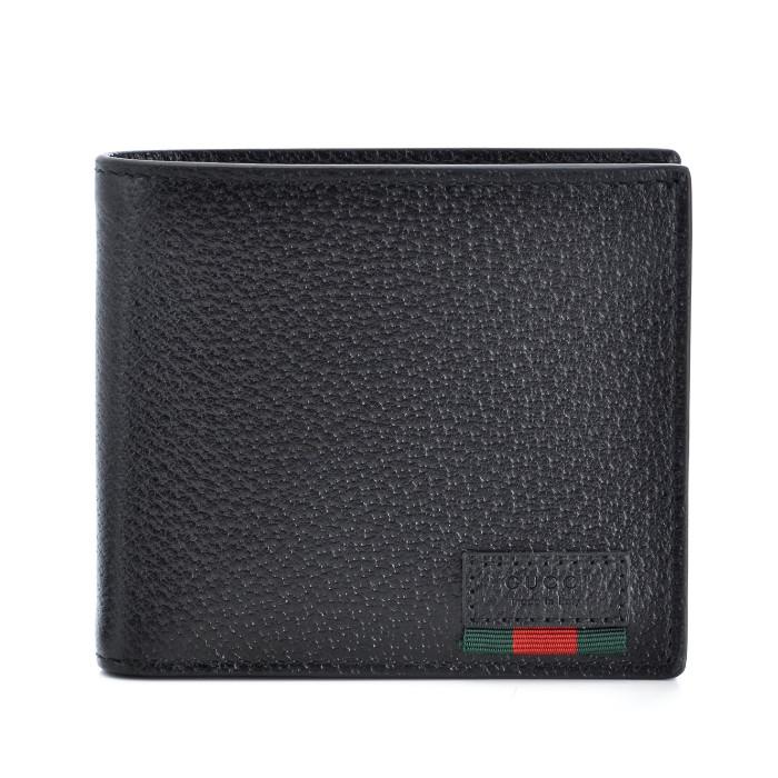 グッチ GUCCI 財布 ダラーカーフ AGORA メンズ 二つ折り財布 ブラック 428748 DJ21T 1060