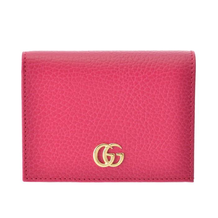 グッチ GUCCI ミニ財布 カード入れ 小銭入れ付き マーモント Petite Marmont 二つ折り財布 ピンク系 456126 CAO0G 5752
