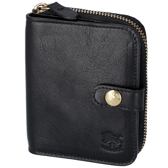 イルビゾンテ IL BISONTE 財布 レディース メンズ ミニ財布 二つ折り財布 ブラック C0756 P 153