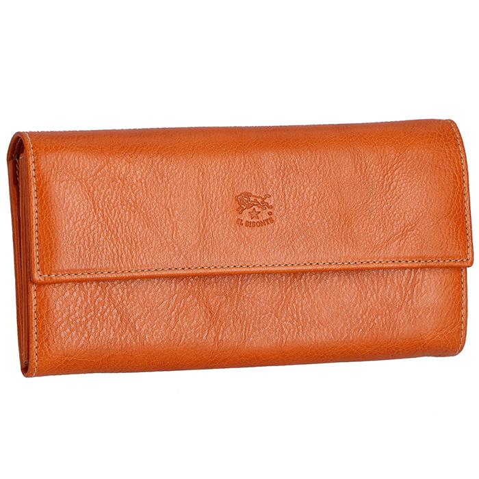 イルビゾンテ IL BISONTE 財布 レディース メンズ 二つ折り長財布 キャメル C0918 P 145