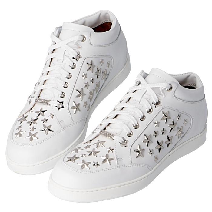 ジミーチュウ JIMMY CHOO 靴 レディース スニーカー ホワイト×マルチスタッズ MIAMI LET 0022