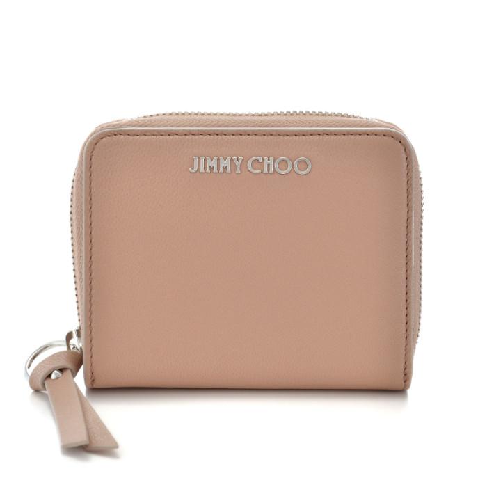 【春夏セール】ジミーチュウ JIMMY CHOO ミニ財布 二つ折り財布 ベージュ系 REGINA GRZ 0142