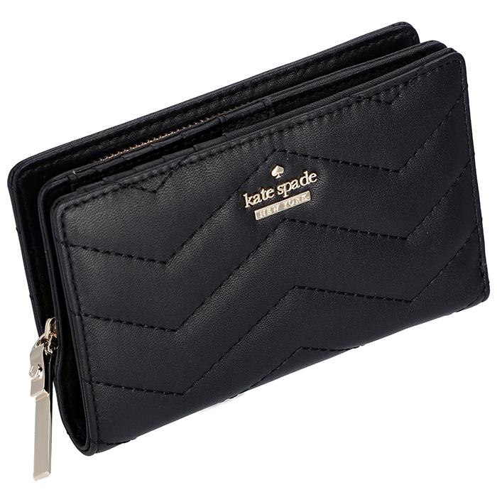 ケイトスペード KATE SPADE 財布 二つ折り ミニ財布 DARA パスケース付き ブラック PWRU6631 0028 001
